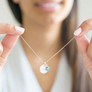 Esme Initial Birthstone Personalised Necklace