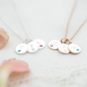 Family Dotty Birthstone Personalised Necklace