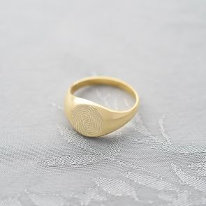Fingerprint Personalised Signet Ring
