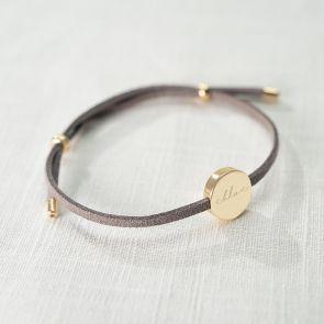 Silana Suede Personalised Friendship Bracelet