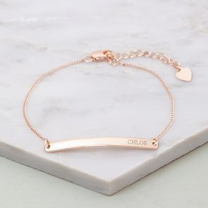 Marie Bar Personalised Bridesmaid Bracelet