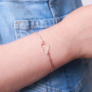 Mini Sterling Silver Heart Kids Personalised Wish Bracelet