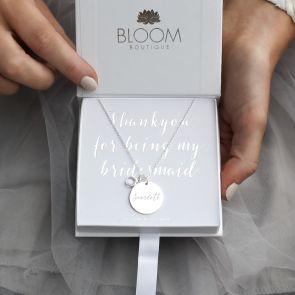 Khloe Bridesmaid Personalised Name Necklace