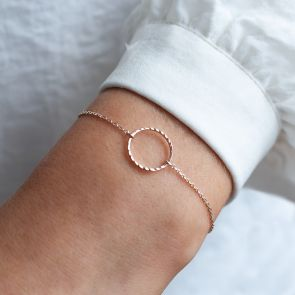 Diamond Cut Circle Personalised Bracelet