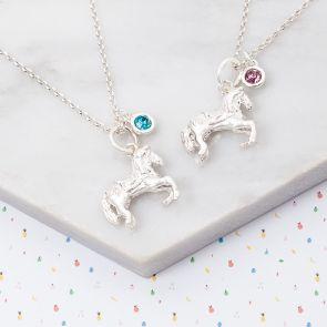 Mini Sterling Silver Pony Charm Kids Necklace