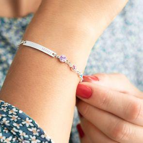 Generation Birthstone & Bar Personalised Bracelet