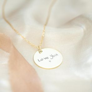 Personalised Sterling Silver Handwriting Necklace