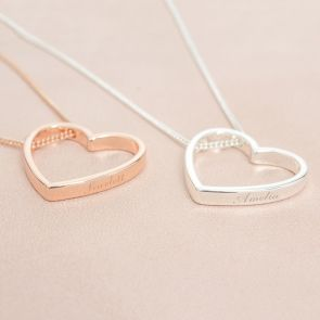 Heart Pendant Personalised Name Necklace