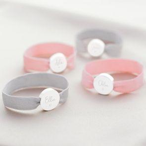Heidi Disc Charm Personalised Stretch Bracelet