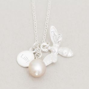 Create Your Own Violet Silver Personalised Charm Necklace