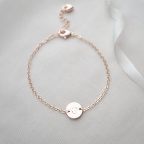 Initial Disc Personalised Bracelet