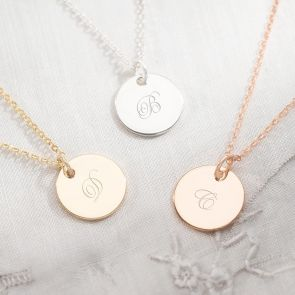Initial Pendant Personalised Necklace