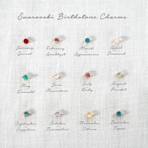 Family Birthstone and Marie Bar Set
