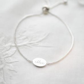 Iona Personalised Oval Slider Bracelet