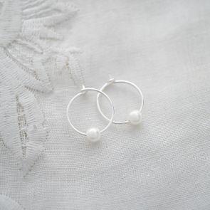 Isabella Pearl Hoop Earrings