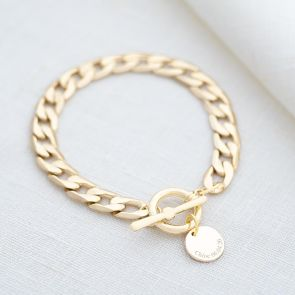 Kali Statement Chain and Disc Personalised Message Bracelet