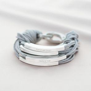 Katia Personalised Message Bracelet