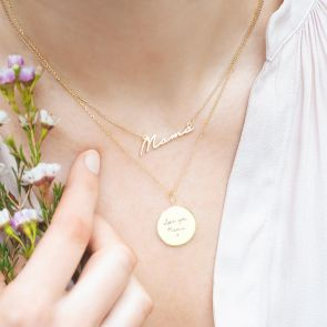 Sterling Silver Sia Personalised Handwriting Necklace