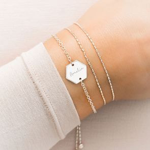 Lealia Hexagon Personalised Friendship Bracelet