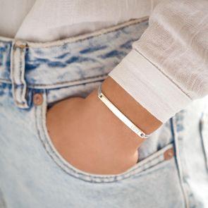Lottie Bar Personalised Friendship Bracelet