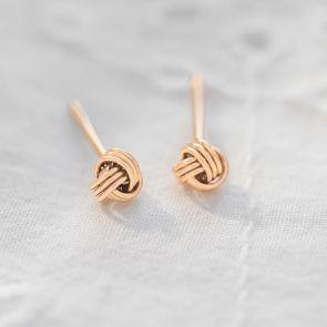 Luna Miniature Knot Personalised Earrings