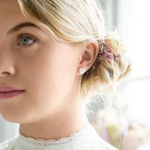 Lulu Personalised Small Knot Earrings