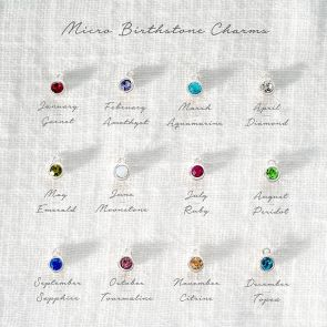Add a Micro Swarovski Birthstone Personalised Charm