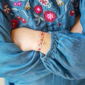 Mini Liberty Print Letter Personalised Bracelet