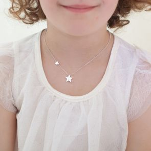 Mini My Lucky Star Personalised Sterling Silver Kids Necklace