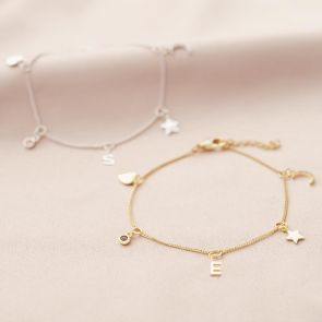 Multi Charm Personalised Bracelet