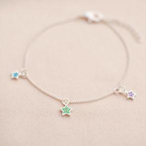 Family Multi Birthstone Star Personalised Bracelet