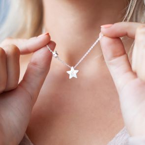 My Lucky Star Birthstone Personalised Necklace
