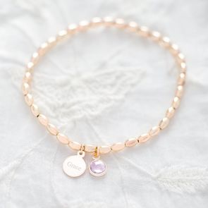 Nala Birthstone Personalised Friendship Bracelet