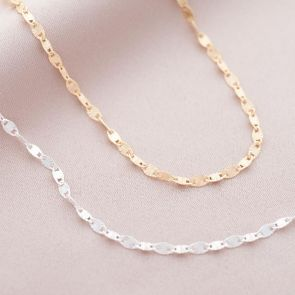 Nola Sterling Silver Starburst Chain Personalised Necklace