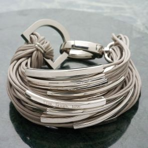 Katia Silver Strand Personalised Bracelet