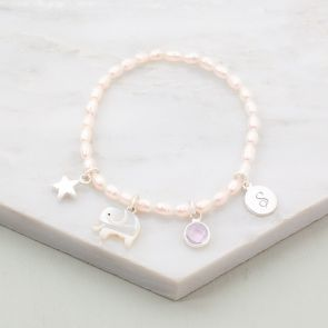 Mini Create Your Own Personalised Sterling Silver Kids Bracelet