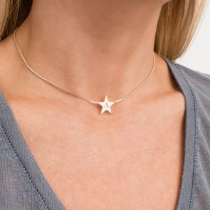 Personalised Star Slider Necklace