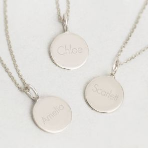 Contemporary Initial Sterling Silver Personalised Pendant Necklace