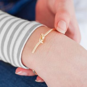 Personalised Knot Cuff Bangle