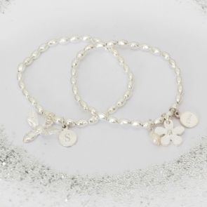 Personalised Flower Girl Bracelet