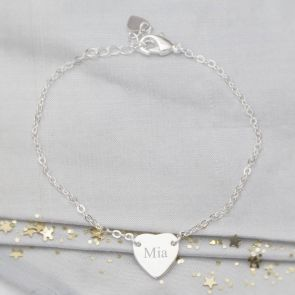 Personalised Initial Heart Bridesmaid Bracelet