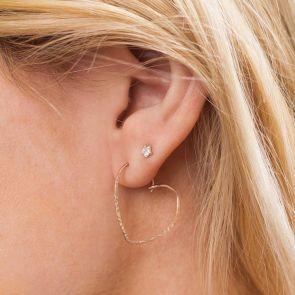 Fleur Personalised Heart Earrings