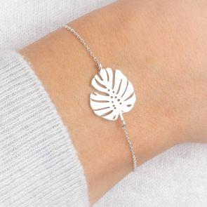 Rae Personalised Leaf Bracelet