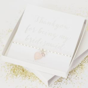 'Thank You For Being My Bridesmaid' Bracelet Gift Set For Her