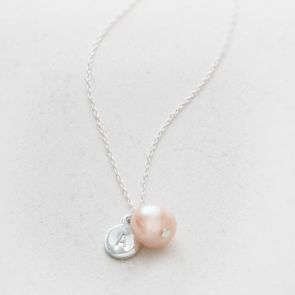 Kari Sterling And Freshwater Pearl Personalised Necklace