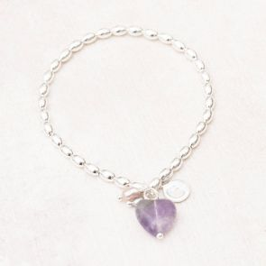 Maya Stone Heart Personalised Friendship Bracelet