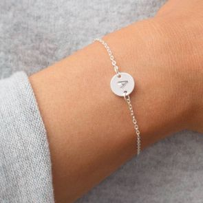 Letter Disc Personalised Friendship Bracelet