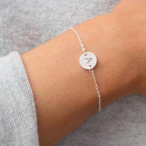 Personalised Letter Disc Bracelet