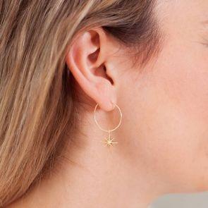 Starburst Personalised Hoop Earrings