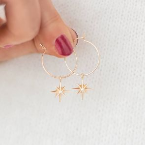 Starburst Personalised Hoop Earrings